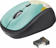 Trust Mouse Ottico Wireless 4 Tasti colore Nero, Blu - 19521