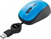 Trust 19653 Mouse USB Ottico YVI Retractable colore Blu