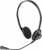 Trust Cuffie per PC con Microfono ad Archetto Jack 3.5 mm Nero 21665 Primo Chat