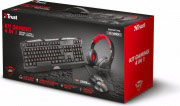 Trust Tastiera PC Gaming + Mouse Gaming + Cuffie Gaming 21917 Kit Gaming 4 in 1
