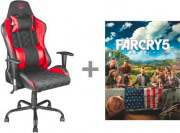 Trust Sedia Gaming Nero  Rosso - 22784 GXT 707R RESTO GAMING CHAIR
