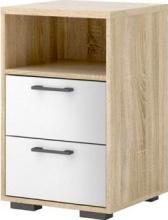 Tvilum 2000265AKUU Comodino 2 Cassetti in legno 40x39x64 White-Oak