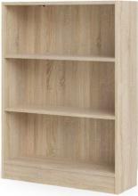 Tvilum 71776AK Scaffale Libreria 3 Vani 107 x 79 x 27 cm finitura Rovere