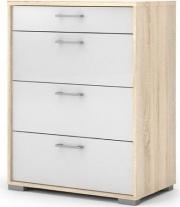 Tvilum 79937AKUU Cassettiera in legno 92x70x43 White-Oak