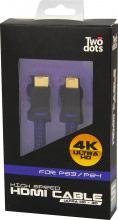Twodots TDGT0027 Cavo HDMI 2 Metri FHD4K PS4 colore Nero - 52735
