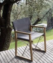 UNOPIU OCPOLG+OCTELBR Sedia giardino Sedia esterno Teak Acciaio 59x54x86 cm Marrone Ocean