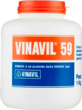 Vinavil D0646 Colla vinilica a media viscosità barattolo 1 kg -  Vinavil 59