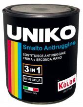 Uniko Smalto Antiruggine Confezione da ml 750 col Nero Lucido N904