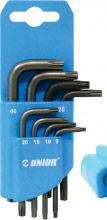 Unior 613089 Chiave torx in Acciaio Set da 8 chiavi Misure da 9 a 40  220 TX