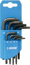 Unior 617077 Chiave torx in Acciaio Set da 8 chiavi Misure da 9 a 40  220 TXN