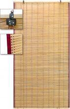 Utilia Arella Bamboo Tenda Ombreggiante con Carrucole da Esterno cm 120x260 h