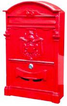 Utilia PH301R Cassetta Postale Serratura a cilindro mm. 255x88x405 h Rosso - Artistica
