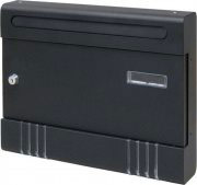 Utilia TX0020-6-2 NERO Cassetta Postale Acciaio con cilindro mm. 366x65x290 h Nero - Praga