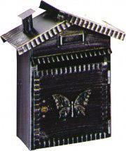 Utilia Cassetta Postale Ferro Battuto con cilindro mm. 230x110x355 h - Procida