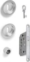 VI.TEL. E0420 51 Serratura per Porta scorrevole nicchia+serratura+nottolino cromo