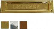 VULCANIA 2501CR Buca Lettere Ottonato Cromato mm 235x 60