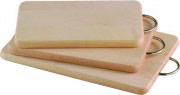 VALDOMO Tagliere in legno Massiccio con manico in Acciaio 40X25X2 163