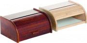VALDOMO Portapane in legno con anta scorrevole 40x18x28 h colore Noce 181 Noce