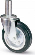 Valsecchi Ruota per ponteggio in gomma perno ø 40 mm lunghezza 190 mm 80BI
