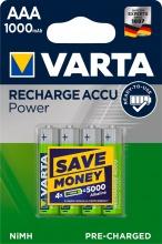 Varta 5.703.301.404 Batteria Ricaricabile AAA confezione da 4