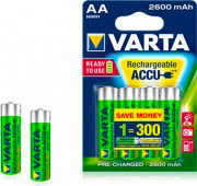 Varta Batterie Ricaribile Stilo AA 1.2 Volt confezione 4 pezzi 5716101404 Accu