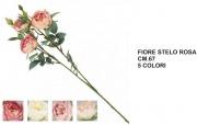 Vea A55372 Fiore Stelo Rosa Boccioli cm 67 5 Assortiti