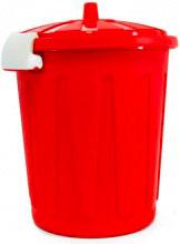 Veca BD001L00800223 Bidone in Plastica con coperchio 8 Litri colore Rosso
