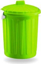Veca BD001L00800224 Bidoncino con coperchio 8 Litri Verde Plastica 26xh32 cm