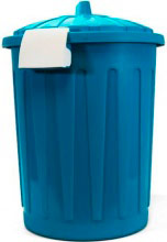 Veca BD001L02300225 Bidone in Plastica con coperchio 23 Litri colore Blu