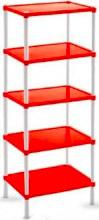 Veca SA001P00005 Scaffale Plastica 5 ripiani 30 x 40 x 110 Colori Assortiti