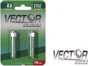 Vector C690229 Batt. Ricar. Stilo Aa Rc 2300 Mah confezione 2 pezzi