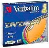 "Verbatim Dvd+Rw Vergini ""Live It Cool Blue"" 2.4 X 4.7Gb 5Pk 43173"