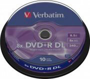 Verbatim Confezione n°10 DVD-R 8x 8,5 Gb Double Layer - 43666