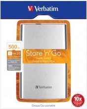 "Verbatim 53021 Hard Disk Esterno Autoalimentato 500 Gb 2,5"" USB  Store n Go"