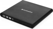 Verbatim 98938 Masterizzatore Esterno Slim DVD-RRW USB 2.0 Nero  DVD REWRITER