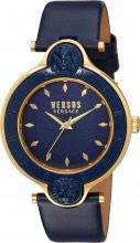 Versace Orologio Donna Analogico Quarzo Cassa Acciaio Cinturino Blu SCF040016