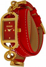 Versace Orologio Donna Analogico cassa Acciaio e Cinturino Pelle Oro SOG0 Versus