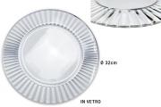 Vetrerie Riunite T448396 Sottopiatto in Vetro cm 32 Diva