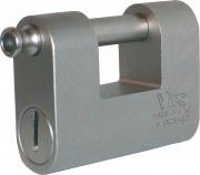 Viro 3.041.440.000 Lucchetto acciaio monoblocco + 2 Chiavi Larghezza 87 mm