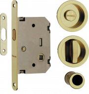 VI.TEL. Serratura Porta scorrevole nicchia+serratura+nottolino Oro E0262N 40
