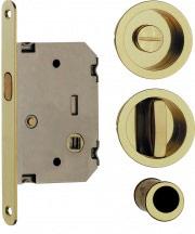 VI.TEL. Serratura Porta scorrevole nicchia+serratura+nottolino Cromo E0262N 51