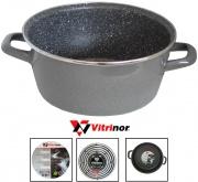 Vitrinor 080125 Casseruola 2 Manici cm 20 Acciaio Vetrificato per Induzione