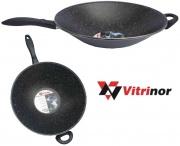 Vitrinor 082112 Padella Wok Acciaio Vetrificato cm 35 per Induzione