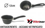Vitrinor 089661 Casseruola 1 Manico cm 12 Acciaio Vetrificato per Induzione