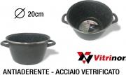 Vitrinor 089746 Pentola 2 Manici cm 20 Acciaio Vetrificato per Induzione