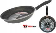 Vitrinor VI080040 Padella Acciaio Vetrificato cm 24 Rivestimento In Pietra per Induzione