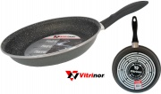 Vitrinor VI080088 Padella Acciaio Vetrificato cm 32 Rivestimento In Pietra per Induzione