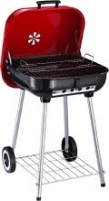 VivaGarden 10565 Barbecue A Carbonella Bbq Grill Coperchio e Ruote 45x47.5x70cm