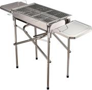 VivaGarden 10571 Barbecue a Carbonella BBQ Grill con Piano in Acciaio Inox