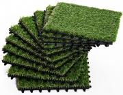 VivaGarden 8441D6 Erba Sintetica Per Giardino Set Di 10Pz 30x30 cm Verde Scuro